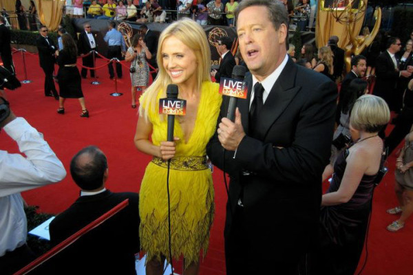 Emmys Red-carpet - Jessica Holmes - KTLA TV Anchor & TV Host with Sam Rubin