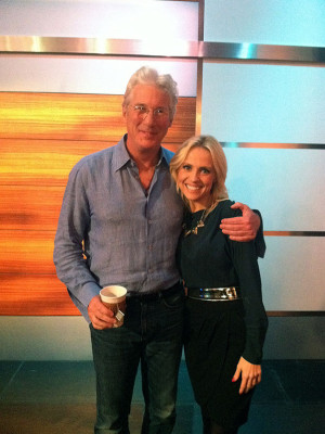 Jessica Holmes KTLA TV Anchor & TV Host with Richard Gere
