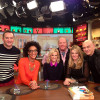Jessica Holmes KTLA TV Anchor & TV Host with the cast of ABC's The Chew