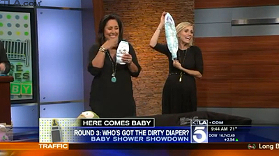 Jessica Holmes and KTLA and Baby Shower Showdown